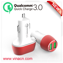 portable phone car charger,QC3.0 multi car charger,usb travel car charger QC3.0