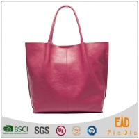 S668-A2953- vegetable no lining luxury leather tote bags women designer handbag 2015