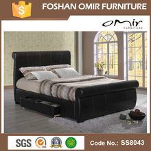 ss8043 self assembly wooden bed frame double size bed frame