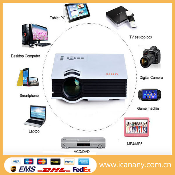 Wholesale newest hot sale smartphone mini portable projector wireless with built in re-chargable with low price