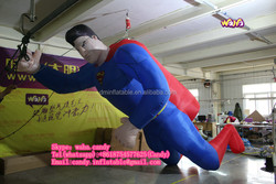 Customized inflatable superman cartoon for advertising C-185