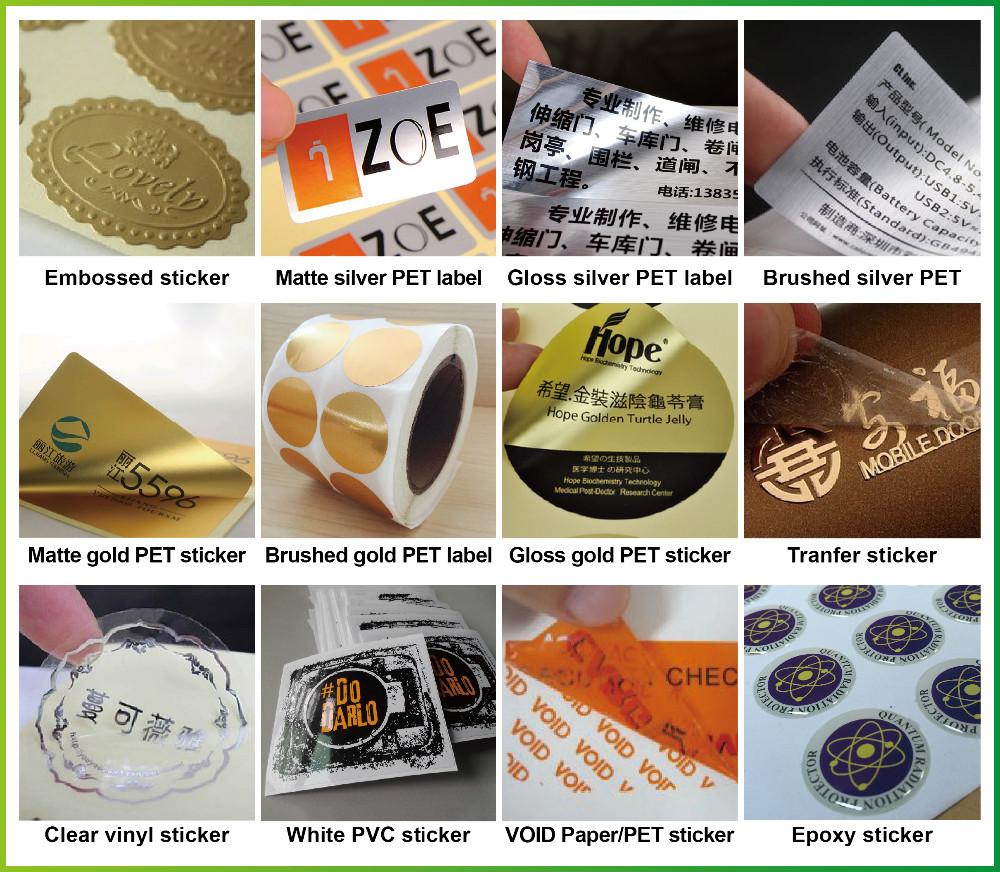 Matte black round stickers
