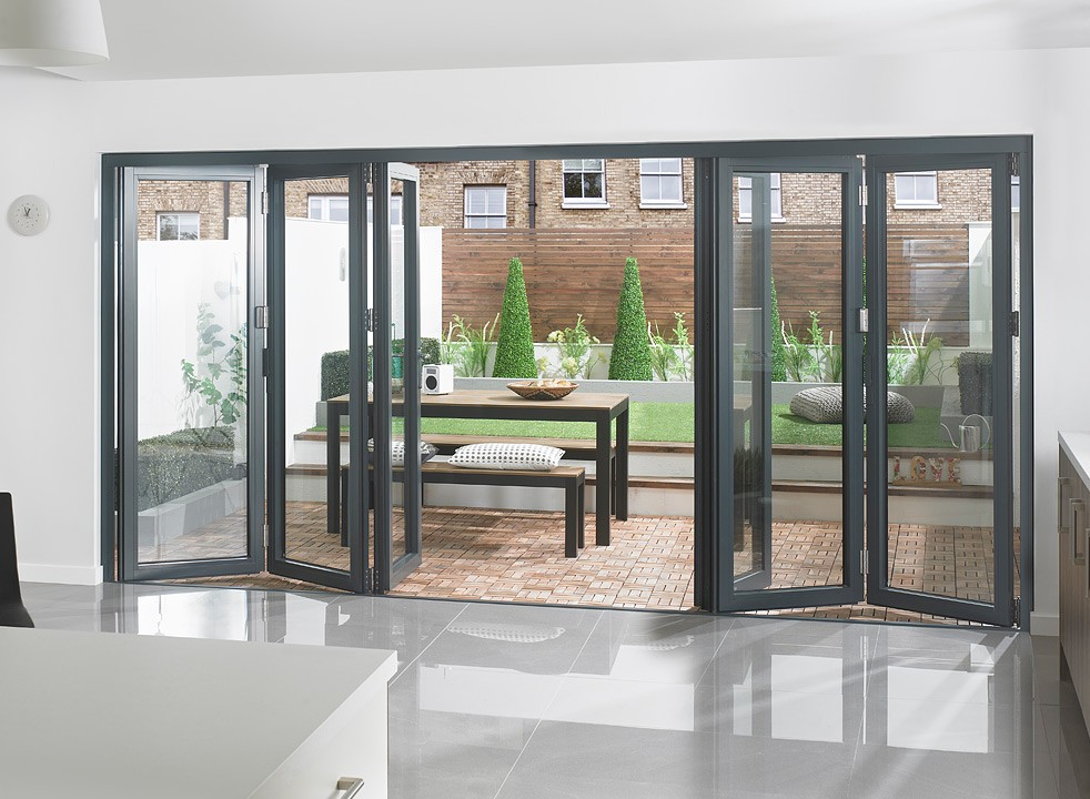 Aluminum exterior doors for house