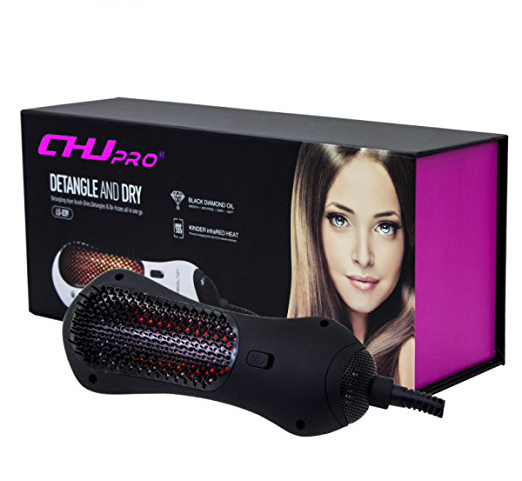 Wholesale Salon tools custom electric professional ionic rotating hot air brush dryer heat ceramic hair straightening brush