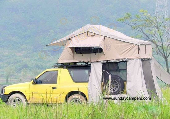 camping trailer moto tent