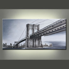 3d Relief World Famous Scenery Image Brooklyn Bridge Oil Painting