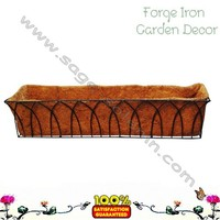 Trough Wrought Iron Flower Planter Window Box