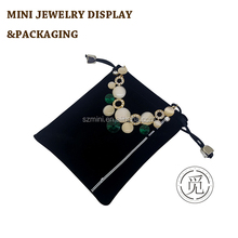 High quality OEM ODM wholesale velvet custom jewelry pouch with custom own logo stamped bag