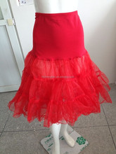 China Supplier Red Wedding Petticoat Wedding Dress Petticoat for Bride Bridal Petticoat