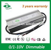 waterproof power supply led driver 0-10v dimmable 150w