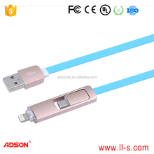 MP3 / MP4 Player,Computer,Mobile Phone Use and Micro-USB USB Type crystal usb cable for iphone