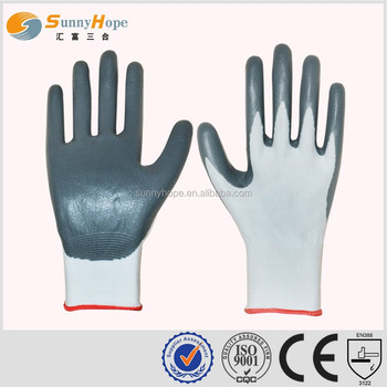 sunnyhope hot sales good quality cute nylon nitirle coated palm gloves