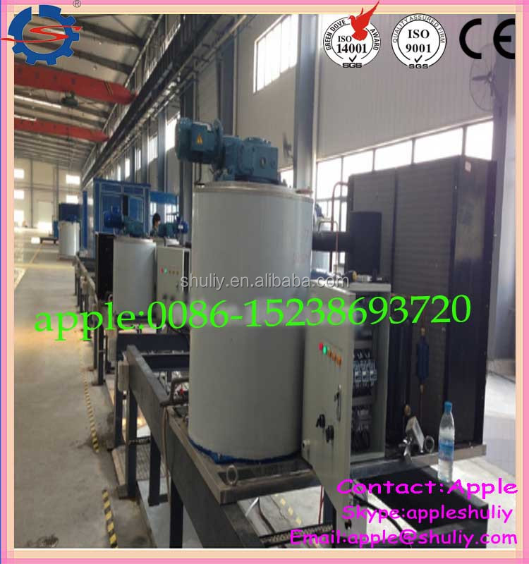 Good performance Air Cooled Sea Water Flake Ice Making Machines