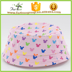 wholesale printed 100% cotton custom bucket hats