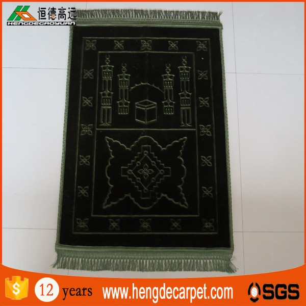 good quality islamic prayer rug thick,muslim prayer mat from hengde