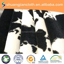 100% polyester super soft dalmatian print fabric/anmial print fabric