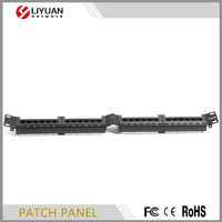 "LY-PP6-47 19"" 1U UTP CAT6 network 24 port patch panel"