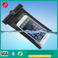 Wholesale Waterproof Pouch with compass and Touch Responsive Transparent Screen
