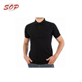 Fashion Crewneck Men's Black Plain Polo T Shirt
