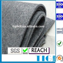 manufacture 3mm thick grey color polyester felt