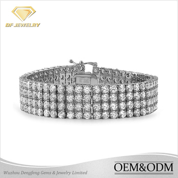 Wholesale China Indian design pure 925 silver bangles and bracelets with white rhodium plating