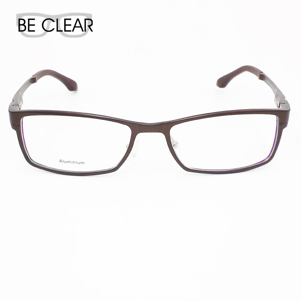 Eyeglass Frames For Rectangular Face : Aluminum Metal Full Rim Prescription Frame Big Face Men ...