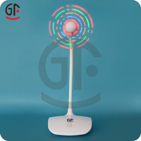New Products 2016 Micro 5 Pin Colorful Message LED Rechargeable Standing Fan