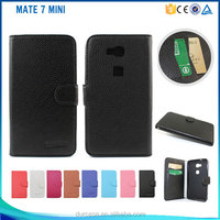 MOQ 30PCS For Huawei Ascend Mate 7 Mini flip Case Stand Book Style Leather Case For Huawei Mate 7 Mini Wholesale