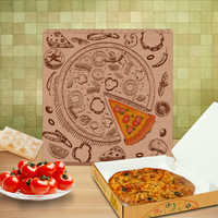 Corrugated brown pizza box can choose multiform dimensions