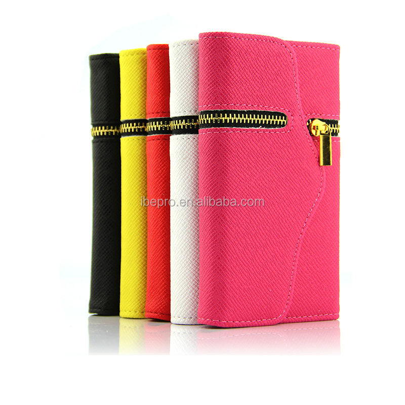 Zipper Style Wallet Leather Case For Samsung Galaxy Note 3