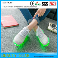 7 color light changing led women shoes,sneaker led women shoes China factory in shenzhen