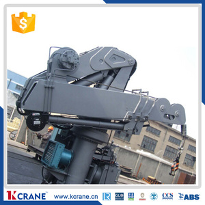 Customized knuckle hydraulic boat deck Marine ship crane