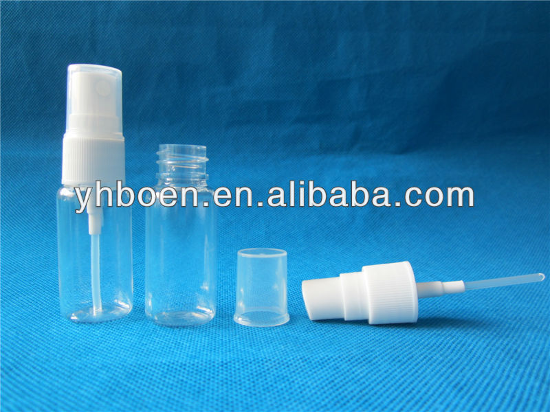 plastic PET 15ml spray fragrance bottle perfume atomizer
