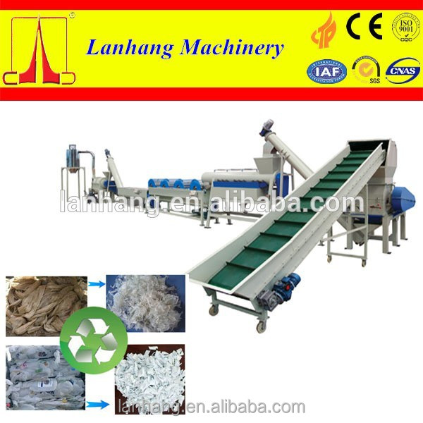PP PE Plastic Waste Film Recycling Machine Line
