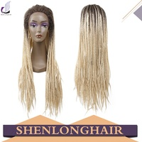 Shenlong Hair wholesale fashionable ombre color blond african braided wig