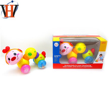 Happy kid toy baby crawling toy plastic worm musical toy