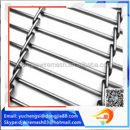 architectural Interior and Exterior stainless steel weave decorative wire mesh
