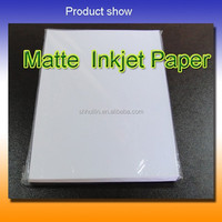 2015 TOP grade A Matte Coated inkjet photo paper cheap price 128g