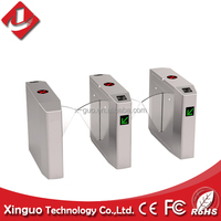 Hot retractable flap gate barrier turnstile for access control system