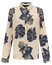 fancy flower print ladies tops latest blouse design in chiffon hot selling