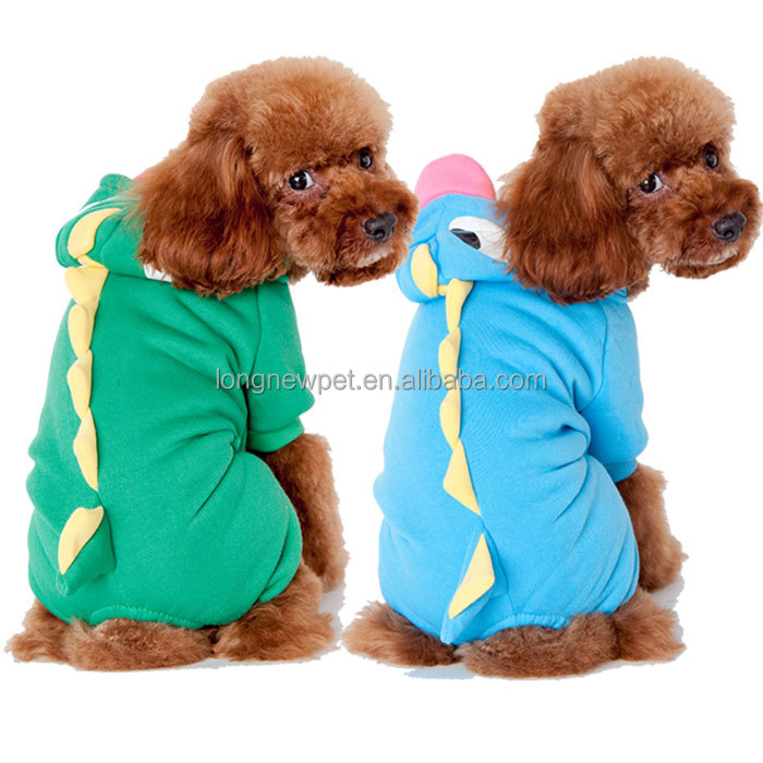 Online Wholesale Dinosaur Lovable Pet Costume Dog Clothes for Halloween