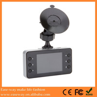 K-2000 night vision car security camera , 2.4 inch screen wide angle loop recording car camcorder