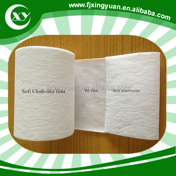 Quanzhou Fujian Chinese full blue laminated film for cloth pampers diaper and sanitary pad making Application