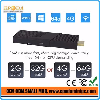 4K Intel Z8300 Quad Core Windows 10 Mini PC with HDMI