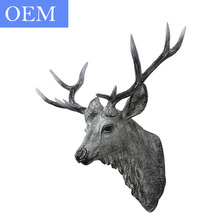 Wholesale Home Decoration Wall Mounted Resin Animal Head
