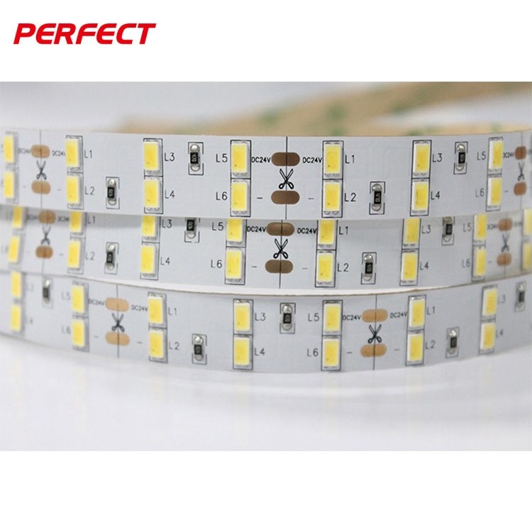 Perfect Led Ltd double row online retail store 120 leds/m 5630 / 5730 led light strip for store hotel project
