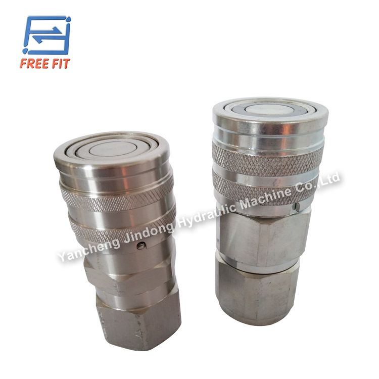 flat face hydraulic quick couplings for pipe fitting