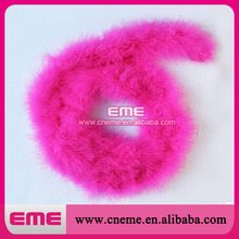 New style pink ostrich feather boa for party