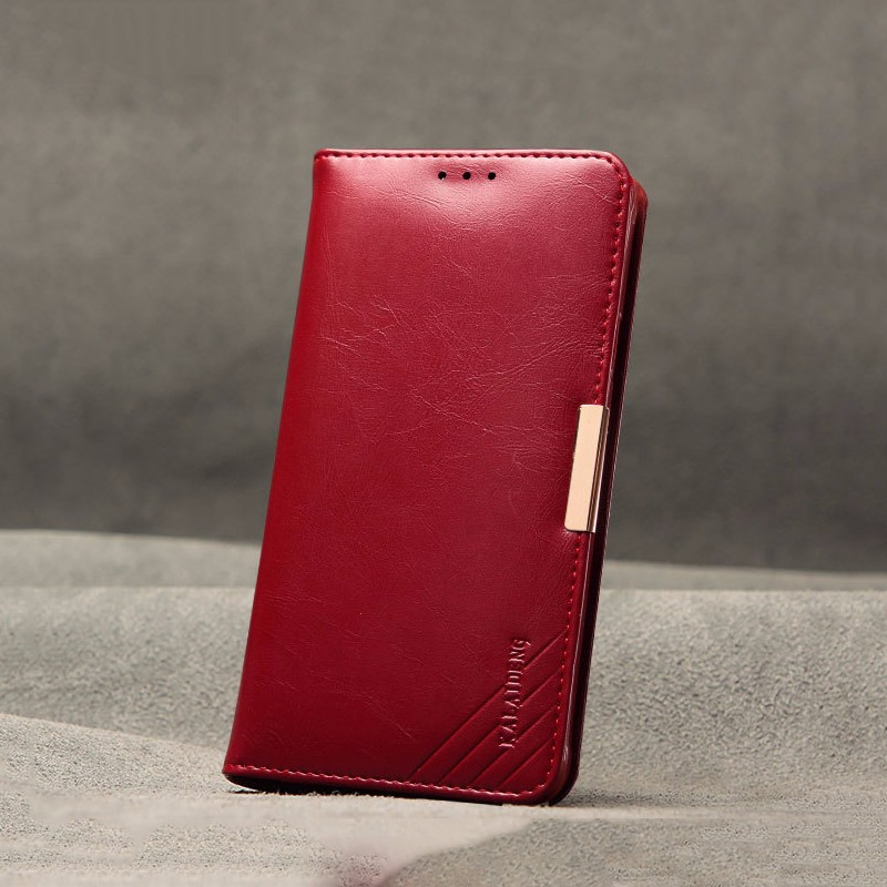 OEM flip wallet leather phone housing for samsung galaxy note 5