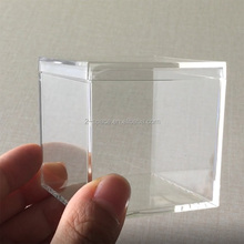 Food Grade Plastic 2 <strong>1</strong>/8&quot; <strong>x</strong> 2 <strong>1</strong>/8&quot; <strong>x</strong> 2 <strong>1</strong>/8'' Clear Acrylic Small Candy Box
